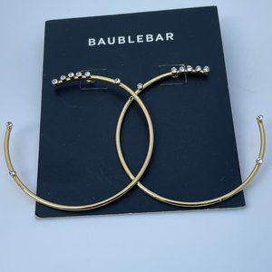 Baublebar Earrings Gold plated 18k crystal details